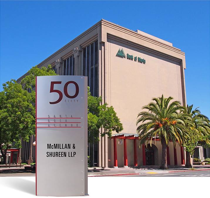 We are located in downtown Santa Rosa, CA
